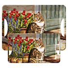 more details on Creative Tops Cottage Cat Trays Set of 2.