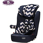 more details on Obaby Group 1-2-3 High Back Booster Car Seat - ZigZag Navy.