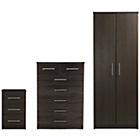 more details on Normandy 3 Piece Wardrobe Package - Wenge Effect.