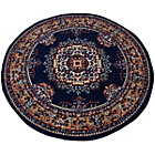 more details on Melrose Maestro Traditional Rug - 120x120cm - Navy.