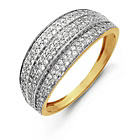 more details on 9ct Gold Pave Set Cubic Zirconia Dome Ring.