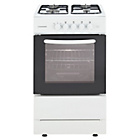 more details on Cookworks CGS60W Single Gas Cooker - White/Ins/Del/Rec.