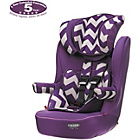 more details on Obaby Group 1-2-3 High Back Booster Car Seat - ZigZag Purple