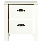 more details on Marlow 2 Drawer Bedside Chest - White.