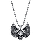 more details on Stainless Steel Skull Wings Pendant.