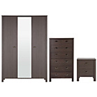 more details on Marlow 3 Piece 3 Door Wardrobe Package - Dark Oak.