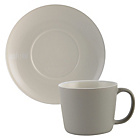 more details on La Cafetiere Taupe Cups and Saucers Set of 2.