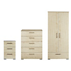 more details on Malvern 3 Piece 2 Door Wardrobe Package - Maple Effect.