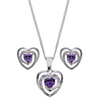 more details on Sterling Silver Lavender Cubic Zirconia Earring and Pendant.