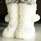 more details on Cherokee Girls' Cream Fur Slipper Boots.