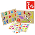 more details on Chad Valley PlaySmart 3 Pack Wooden Puzzles.