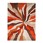 more details on Starburst Orange Rug - 120 x 170cm.