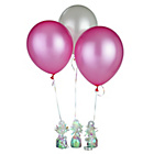 more details on Pink and White Latex Helium Balloon Kit.