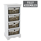 more details on New Malvern 4 Drawer Storage Unit - White.