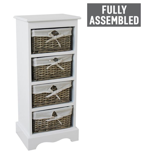 Buy collection new malvern 4 drawer storage unit white at your online shop for - Storage units for small spaces collection ...