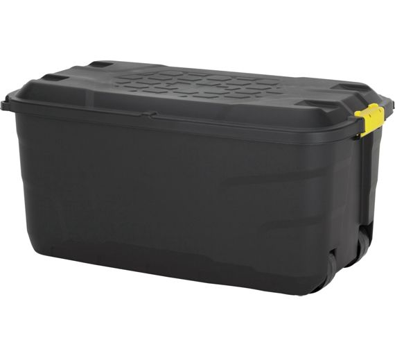 buy home 145 litre heavy duty storage trunk on wheels at. Black Bedroom Furniture Sets. Home Design Ideas