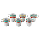 more details on Colourmatch 6 Piece Striped Stacking Mug Set.