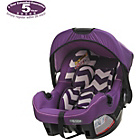 more details on Obaby Group 0 Plus Car Seat - ZigZag Purple.
