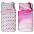 more details on HOME Pink Twin Pack Bedding Set - Single.