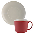 more details on La Cafetiere Cups and Saucers Set of 2 - Red.