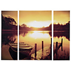 more details on Collection Boat Jetty Triptych Canvas - Set of 3.