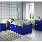more details on Stowe Single Cabin Bed with Drws and Bibby Mattress - Blue.