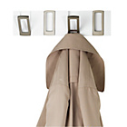 more details on 4 Hook Hookaboo Wall-Mounted Hooks - White.