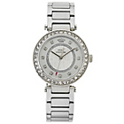 more details on Juicy Couture Ladies' Silver T Bar Stone Set Watch.