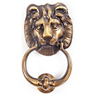more details on Antique Brass Lion Door Knocker.