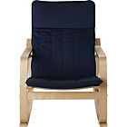 more details on HOME Fabric Rocking Chair - Blue.