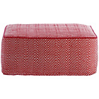 more details on Habitat Durrie Low Pouf - Red and White.