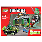 more details on LEGO Juniors Turtles' Lair - 10669.