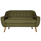 more details on Hygena Lexie Retro Fabric Sofa 2 Seater Olive Green.