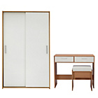 more details on New Sywell 2 Piece Sliding Wardrobe Package - White.