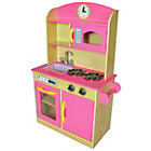 more details on Teamson Kids Bubble Gum Deluxe Play Kitchen.
