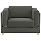 more details on Habitat Colombo Fabric Armchair Sofa Bed - Charcoal.