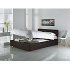 more details on Hygena Lavendon Double Ottoman Bed Frame - Chocolate.
