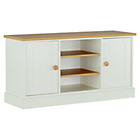 more details on Winchester Tall Sideboard/TV Unit - Soft White and Oak.
