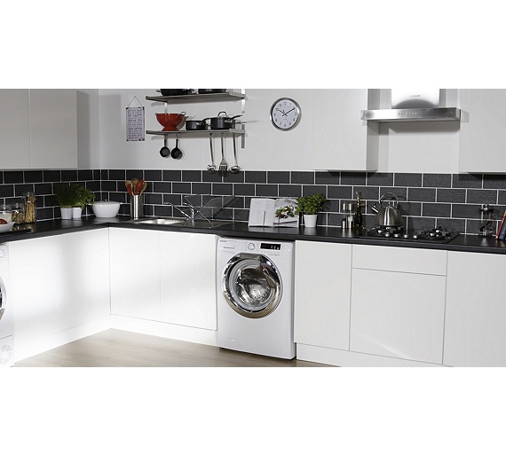 Buy Hoover DXCC48W3 8KG 1400 Spin Washing Machine White