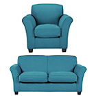 more details on Caitlin Large Sofa and Chair - Teal