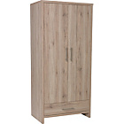 more details on Washington 2 Door 1 Drawer Wardrobe - Warm Oak.