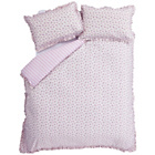 more details on Catherine Lansfield Ditsy Raspberry Duvet Cover Set - Double