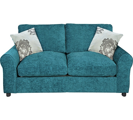 Buy home tessa 2 seater fabric sofa bed teal at for Sofa bed argos