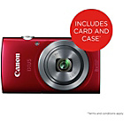 more details on Canon Ixus 165 20MP 8x Zoom Compact Digital Camera - Red.
