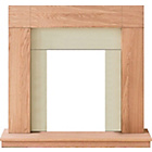 more details on Adam Wyoming Oak Veneered Electric Fire Surround.
