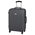 more details on Go Explore Medium 4 Wheel Suitcase - Charcoal.