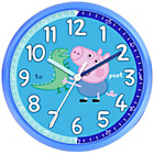 more details on George Pig Time Teaching Wall Clock - Blue.