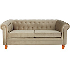 more details on Chesterfield Large Fabric Sofa - Mink.