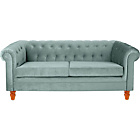 more details on Chesterfield Large Fabric Sofa - Duck Egg.