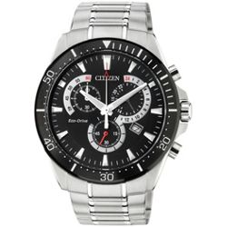 Citizen Eco Drive Black Dial Chronograph Mens Watch